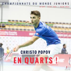 (Miniature) Mondiaux Juniors : Christo Popov en quarts