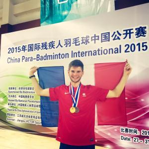 (Miniature) Open de Chine parabadminton : L'or pour Lucas Mazur !
