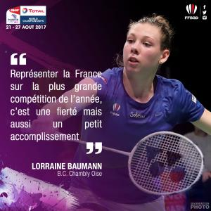 (Miniature) Glasgow 2017 : Interview de Lorraine Baumann
