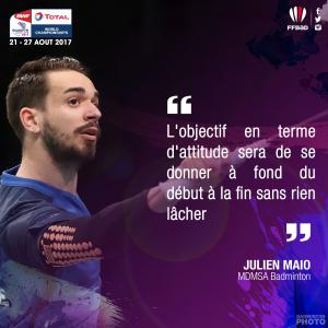 (Miniature) Glasgow 2017 : Interview de Julien Maio
