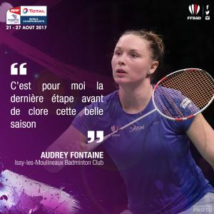 (Miniature) Glasgow 2017 : interview d'Audrey Fontaine