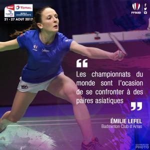 (Miniature) Glasgow 2017 : interview d'Emilie Lefel