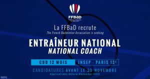 (Miniature) La FFBaD recrute un entraîneur national
