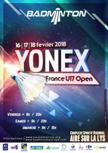(Miniature) Yonex France U17 Open 2018 : rendez-vous ce week-end !